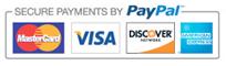 Ασφαλείς πληρωμές με κάρτα μέσω PayPal.